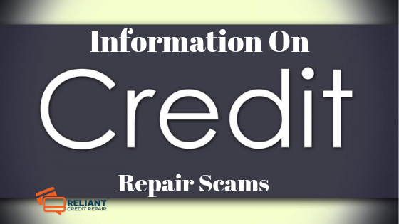 Information On Credit Repair Scams